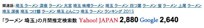 「ラーメン 埼玉」の検索需要